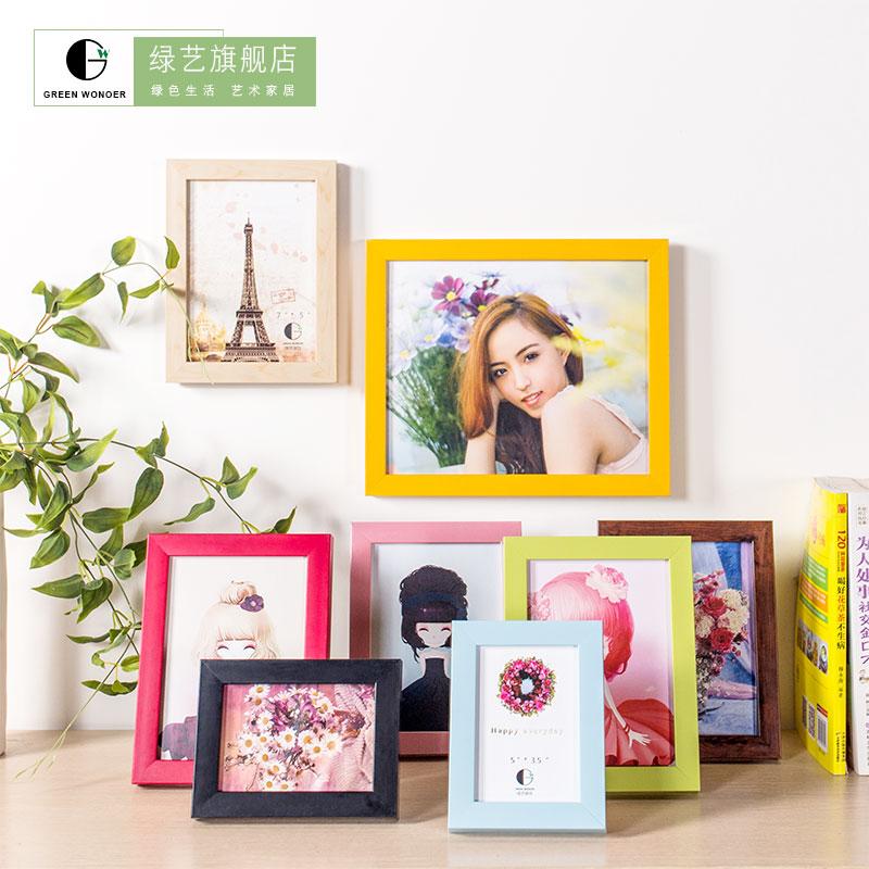 爆款清庫 現代簡約相框擺台兒童塑料畫框照片組合掛牆5 7 10寸
