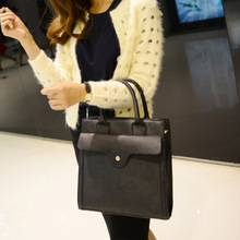 European and American style of new fund of 2015 autumn winters rivet women's shoulder bag briefcase kelly