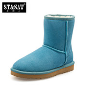 New St&Sat/Saturday's snow boots winter warm booties women's boots with flat SN44110107