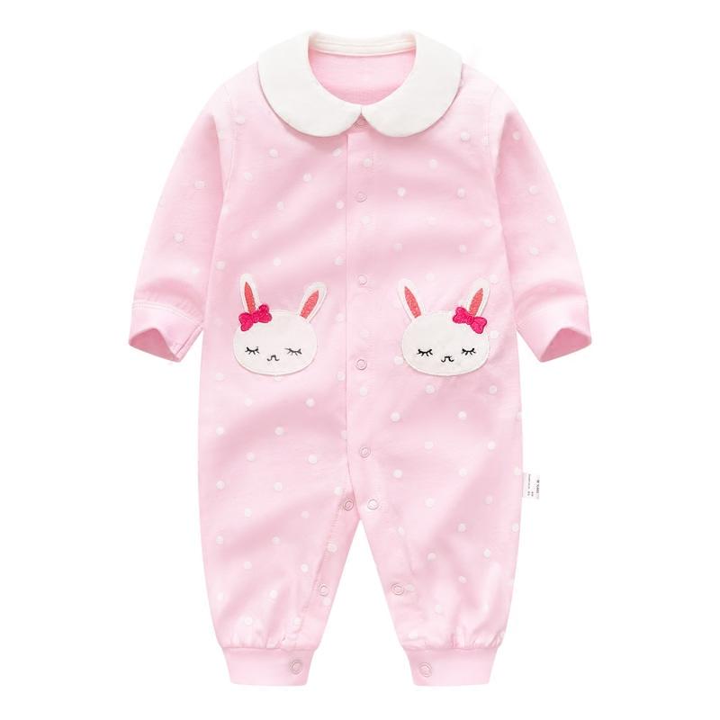 夏裝嬰兒連體衣 女寶寶外出服 薄款 新生兒衣服 春夏純棉睡衣