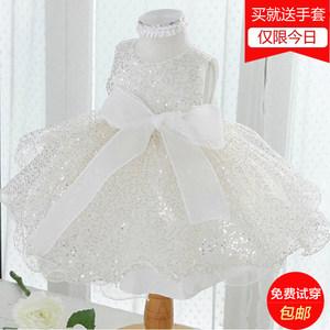 欧福婷儿童影楼拍照服装夏女童钢琴演出婚纱礼服花童装公主蓬蓬裙