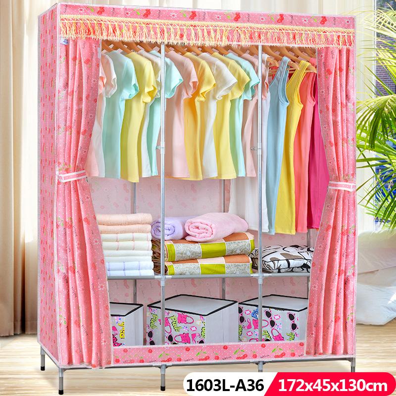 折叠布衣柜简约现代提供安装说明书加固艺术风格型简易衣柜
