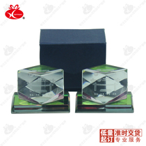 Octagonal Crystal 10 starting printing logo corporate office exhibition activities to send customers creative small gifts