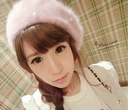 2016 new nail pearl rabbit hair Bailey artist hat autumn and winter womens hat lion ~ magazine goes crazy