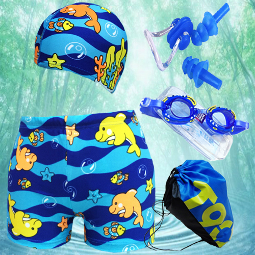 Новый ребенок плавки шапочка для купания мальчиков дети спа купальный костюм прямо плавки мультики молодой ребенок ребенок плавки