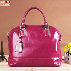 Show packs a first layer of wax leather handbag large bag 2015 fall/winter new style leather women's baodan shoulder bag women