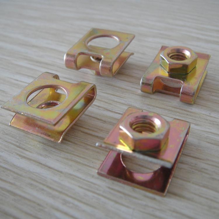 车牌专用夹片螺母 簧片螺母 卡式螺母 M6 板簧螺母 夹板螺丝卡扣