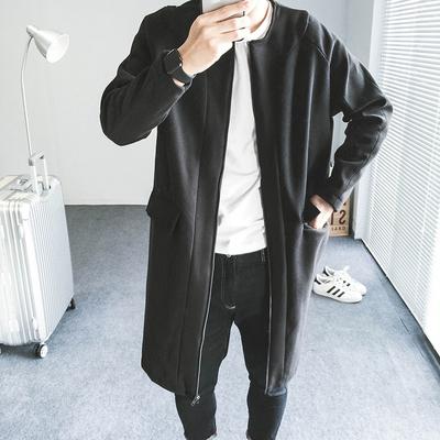黑色呢料风衣  6890P175