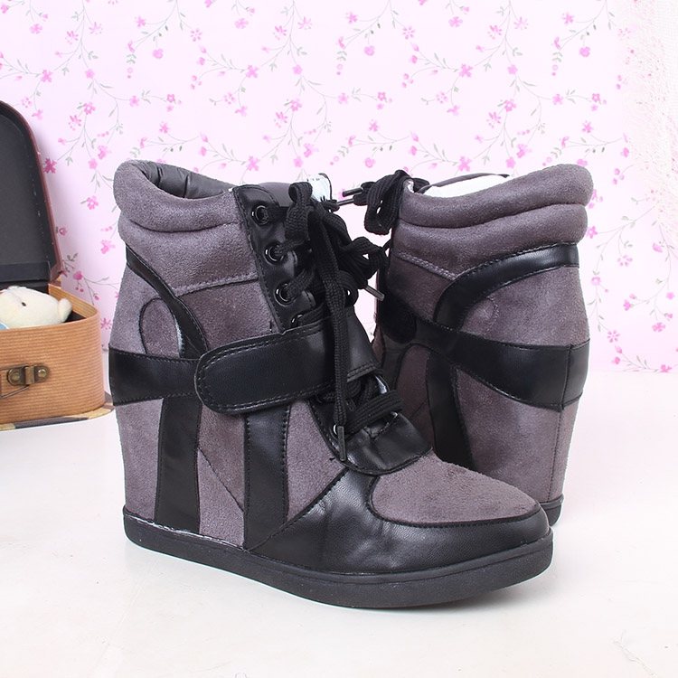 Осенью 2015 года с велкро звезд повышенной скрытности увеличивает прилив женщин Повседневная обувь короткие ботинки ботинки женщин