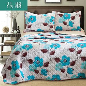 花期超柔绗缝被 田园夏被空调被可水洗床盖床单床罩毯子夏凉被