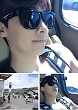 b50f553460d4 USD  23.69  Li Yi Feng Korean version of star models with ultra black  square sunglasses influx of people