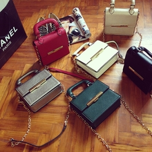 Hot style fashion style of new fund of 2015 autumn winters is mini ms document bags chain shoulder inclined across small bag