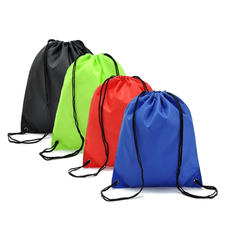 純色加厚防水抽繩袋 雙肩背袋 束口袋 收納袋 鞋袋 運動騎行背包
