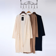 Autumn/winter collection High-end boutiques in Europe and the United States before the wind big joker short after long long cashmere knitted cardigan