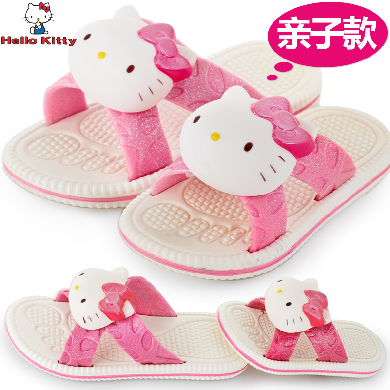 Ребенка Тапочки fun Hello Kitty 2015 Amoi обувь девочек анти-занос обувь детей