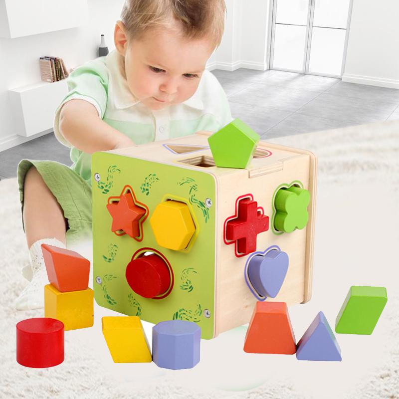 Ребенок 0-1-3 детей в возрасте обучения в раннем возрасте головоломка сила шесть коробка строительные блоки ребенка познавательный форма пара игрушка