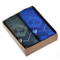 Buy 2 complimentary towel handkerchief mens cotton small handkerchief print high quality Japanese and windy handkerchief womens gift Box