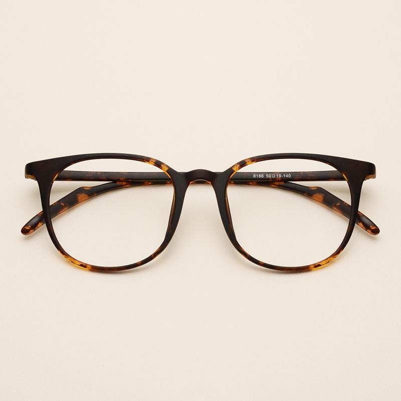 近視眼鏡男女潮款配防輻射平光鏡複古TR90超輕眼鏡框架配防藍光鏡