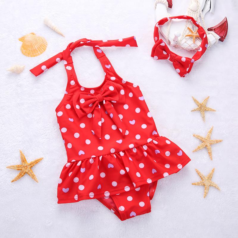 兒童泳衣連體裙式 韓國可愛大小女童寶寶泳裝女孩子嬰幼遊泳衣