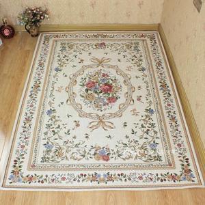 欧式田园地毯茶几客厅卧室床边毯大地垫多尼尔可机洗进门脚垫门口