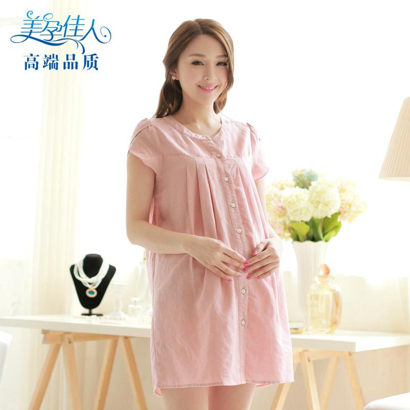 По беременности и родам вершины материнства летние платья, сделанные из белья корейские платья летние платья для беременных женщин беременных женщин короткий рукав