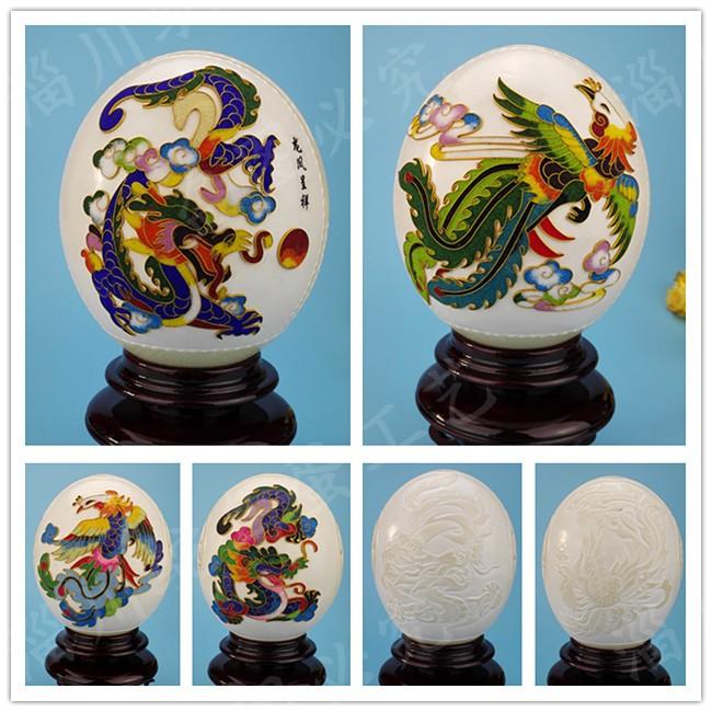 Страусиные яйца резьба ремесла страуса яйцо оболочки базы может быть настроена плафон Местные тираны