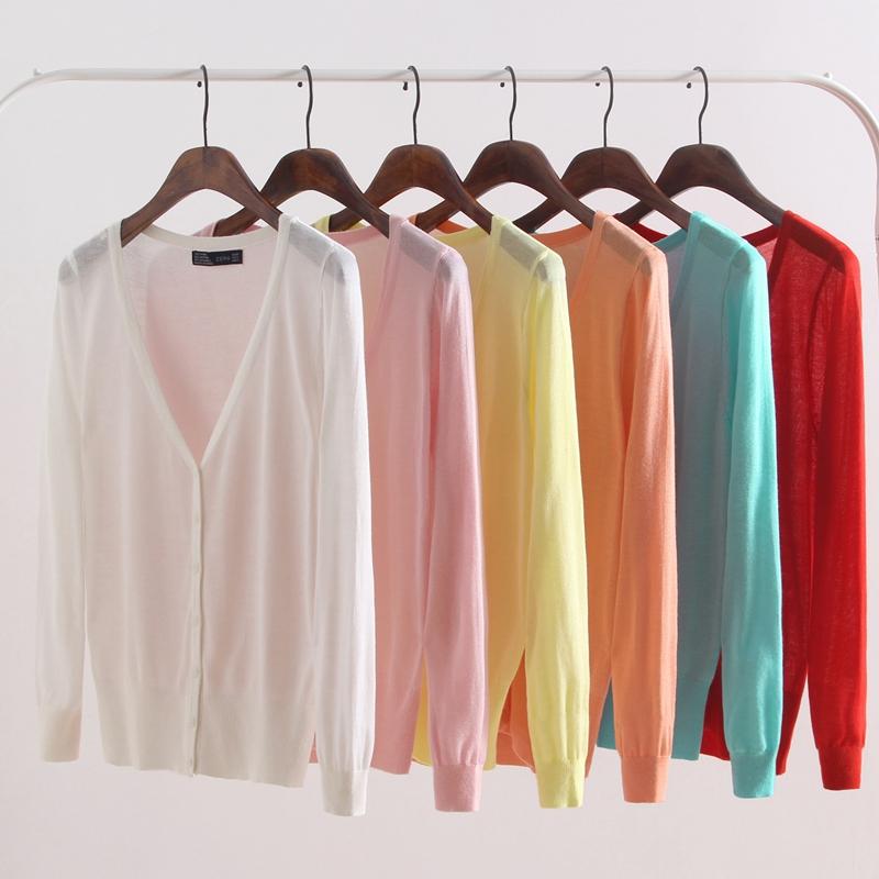 薄款开衫棉线女针织小外套夏季短款修身长袖披肩防晒衣外搭空调衫
