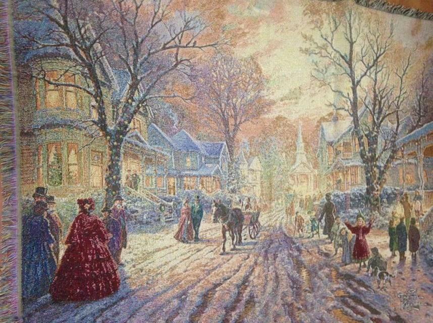 Nora экспорт американских деревень, живопись таблицы ткани размеры 135 x 165 см диван полотенце Рождество