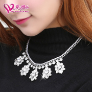 Love ornaments, 16 new style female fashion necklace jewelry cubic zirconia necklace fashion jewelry cocktail dress ornaments