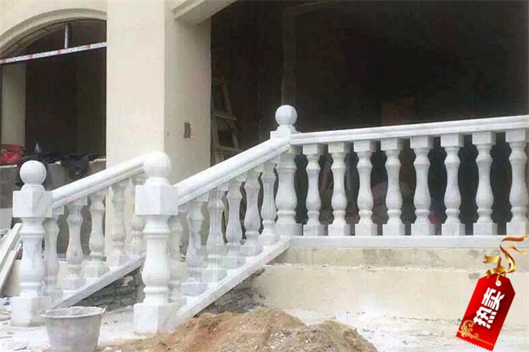 Природный камень балкон перила лестница подлокотник оригинал камень рим колонка сын конопля камень гуанси белый мрамор каменное ограждение поляк конечный продукт