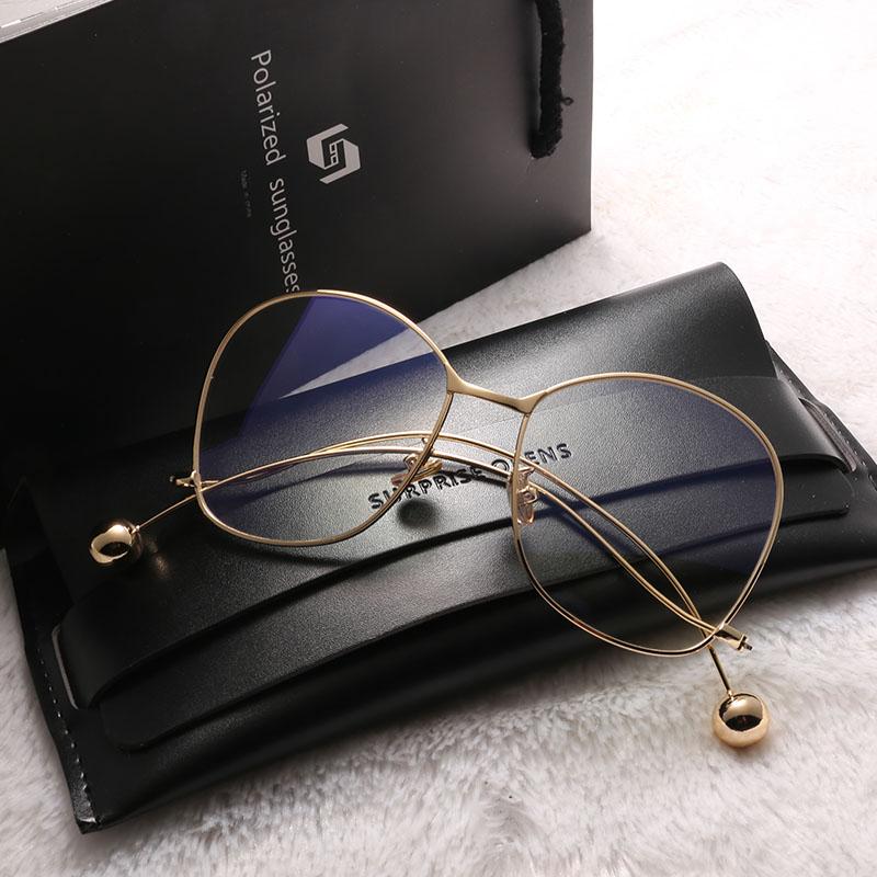 眼鏡框女李小璐楊冪明星同款大框眼鏡架 百搭平光鏡太陽鏡墨鏡