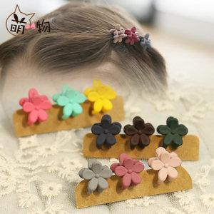 萌物儿童头饰三件套花朵迷你发夹宝宝抓夹刘海夹爪夹饰品边夹发饰
