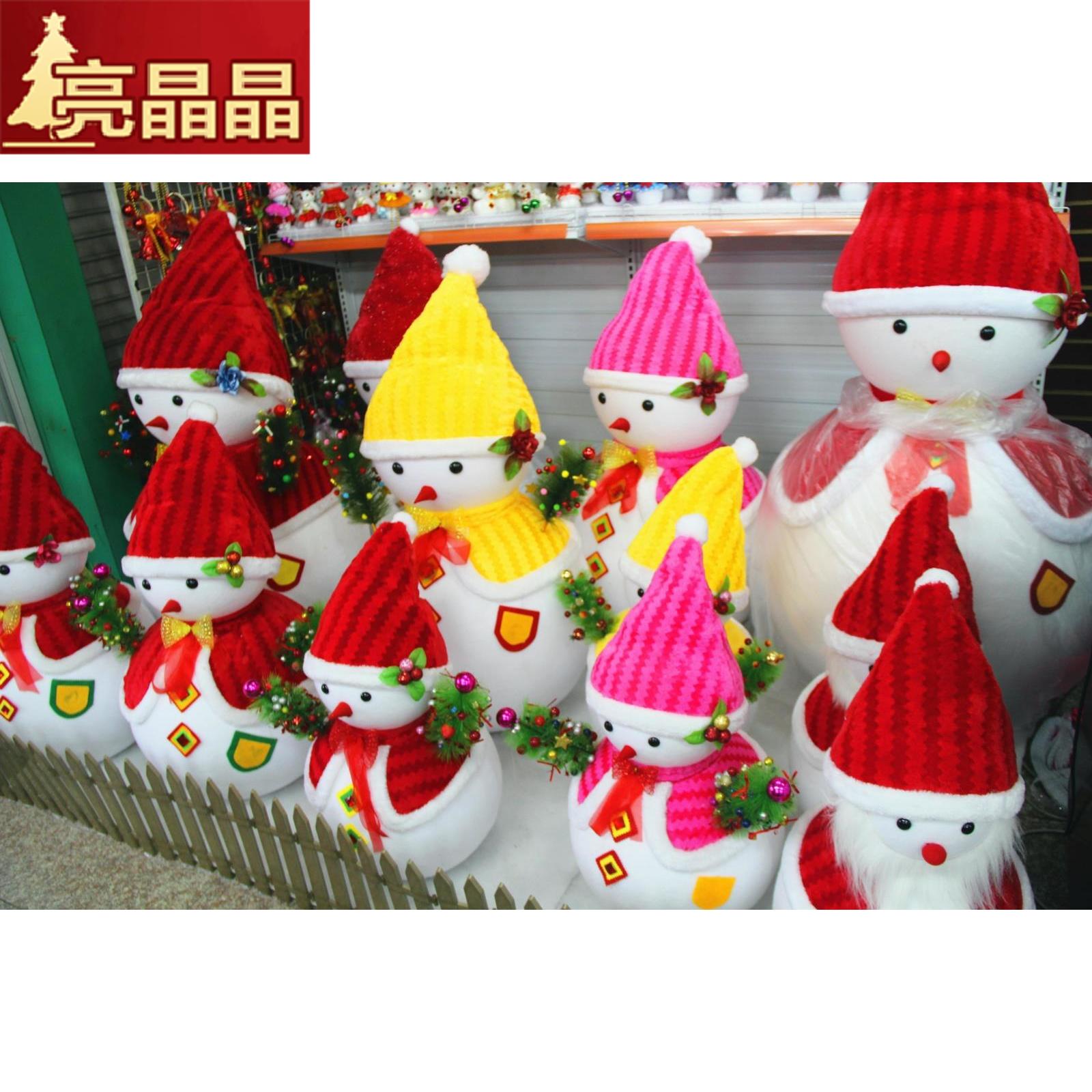 Рождество декоративный статья рождественский снег человек кукла пена рождество сцена крупномасштабный реквизит отели рождество украшение