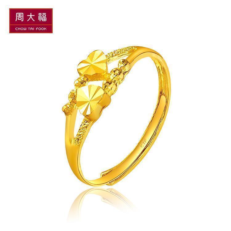 Неделю дайфуку ювелирные изделия ювелирные изделия doppel hertz чистое золото золото кольцо оценка F156901