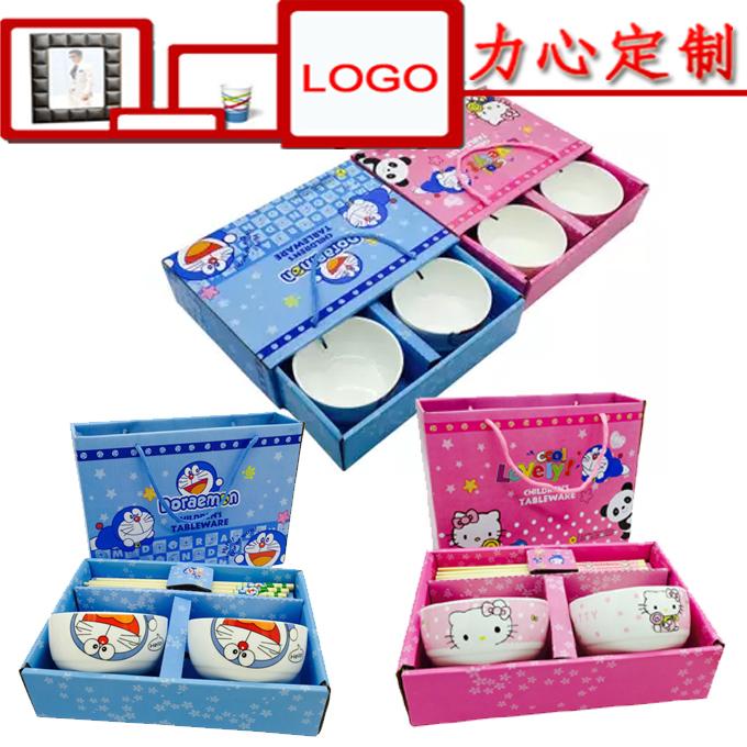Можно настроить реклама мультики ребенок керамика подарок чаша палочки для еды установите новый корейский чаша творческий керамика посуда установите