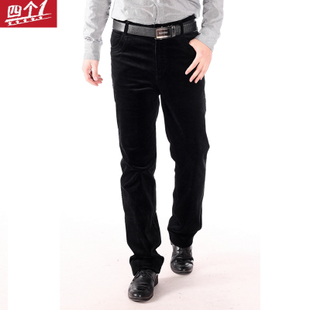 Four 1 winter male cotton corduroy casual trousers big yards corduroy trousers Nutty fertilizer to increase male pants