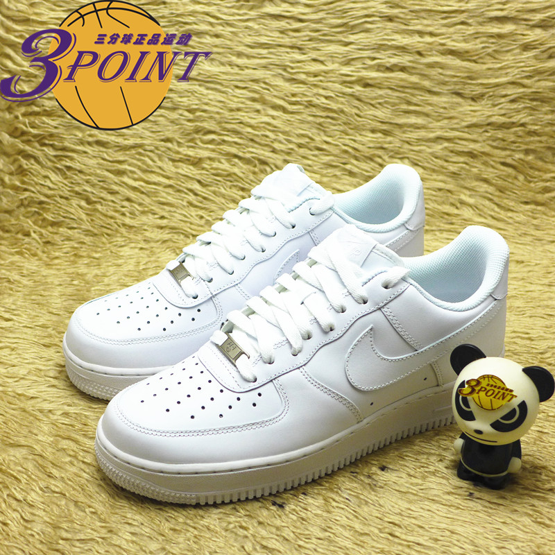 [3point耐克]Air Force 1 AF1经典全白板鞋315115-112 315122-111