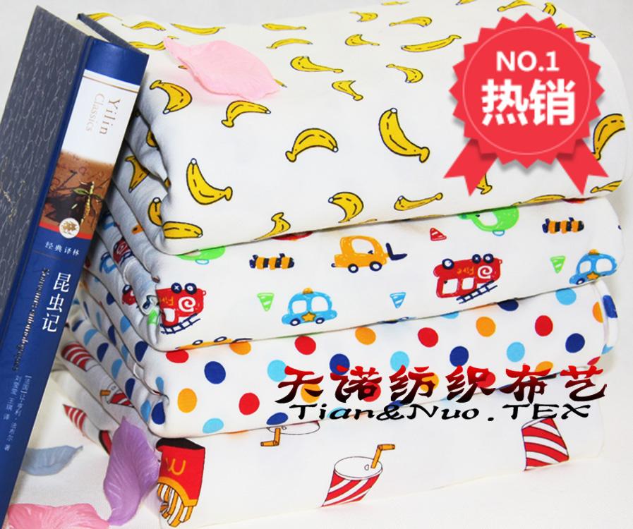 Чистый хлопок Смазливая мультфильм цветок хлопка ребенка вяжет детей белье Одежда Ткани Ткани специальные