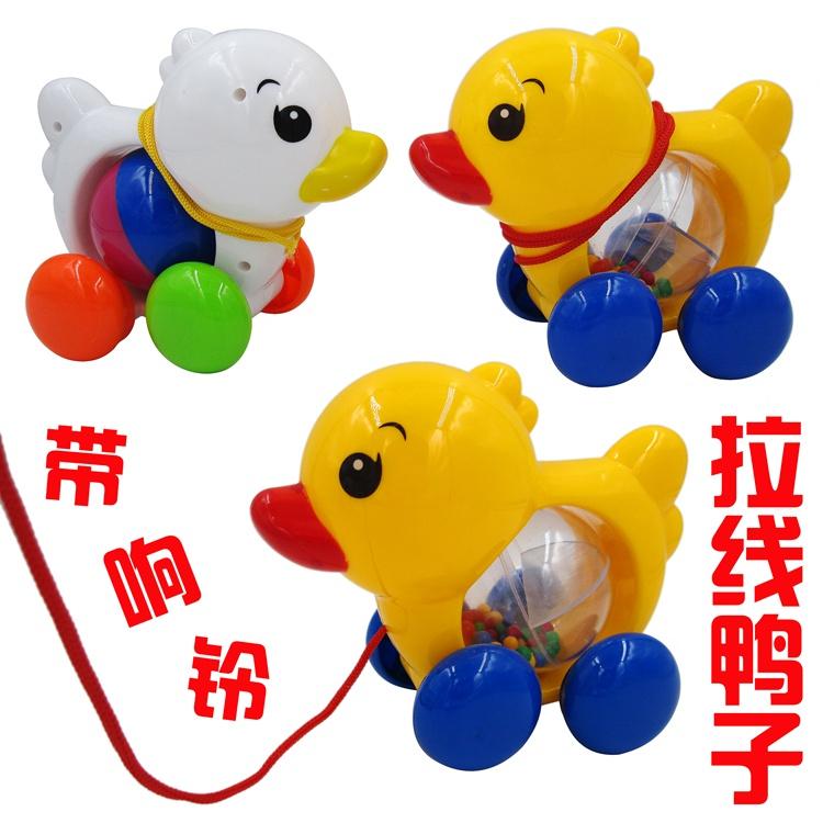 Творческий тянуть нить японская утка группа колокол может качели шаг моделирование животное ребенок ползунок головоломка игрушка подарок 1-3 лет