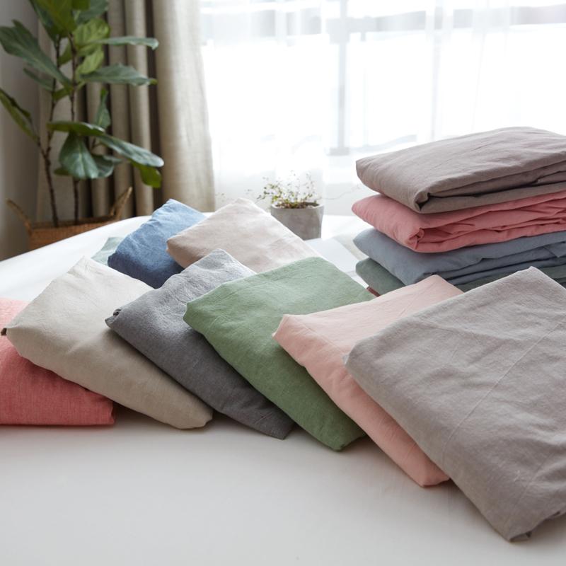 北极绒水洗棉纯棉床单床垫床笠