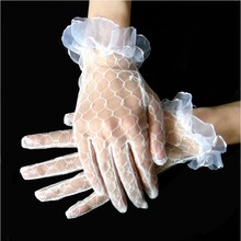 Wedding dress accessories wedding items short lace mesh gloves