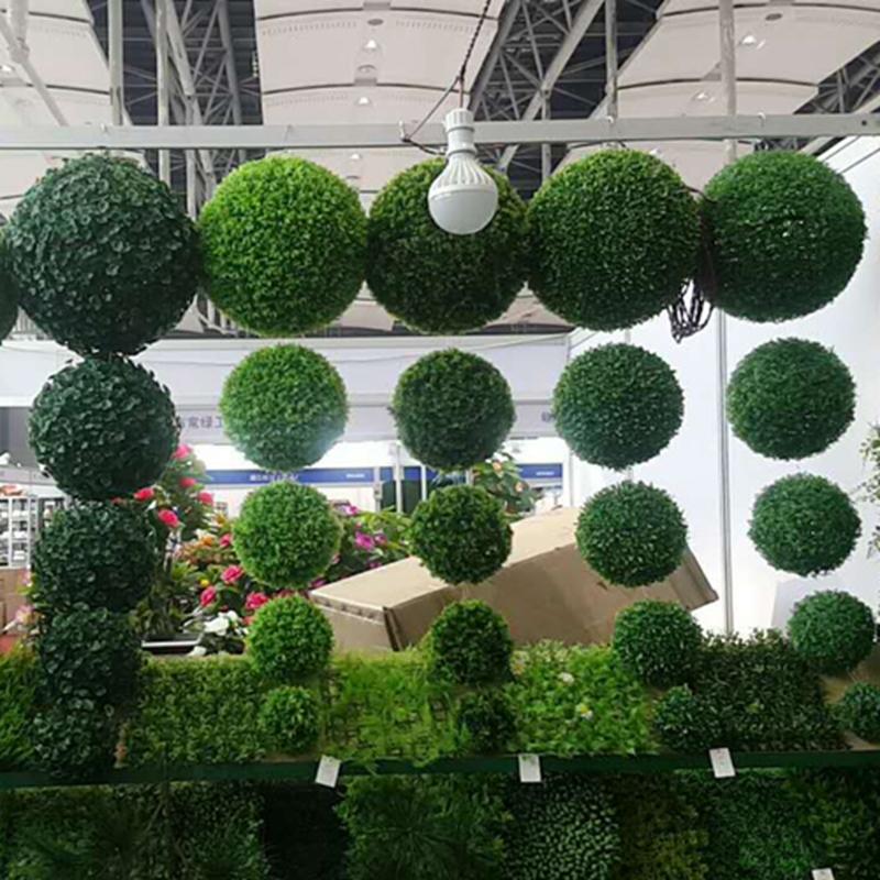 草球仿真草球绿色植物婚庆用品挂件摆件套装仿真花塑料草坪草球