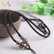DIY hand-woven necklace pendant for men and women tea Crystal Necklace lanyard rope