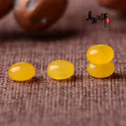 Old beeswax colour abacus beads Topaz spinal isolation shashlik beads DIY accessories 108 beads prayer beads hand bracelet Jewelry Accessories