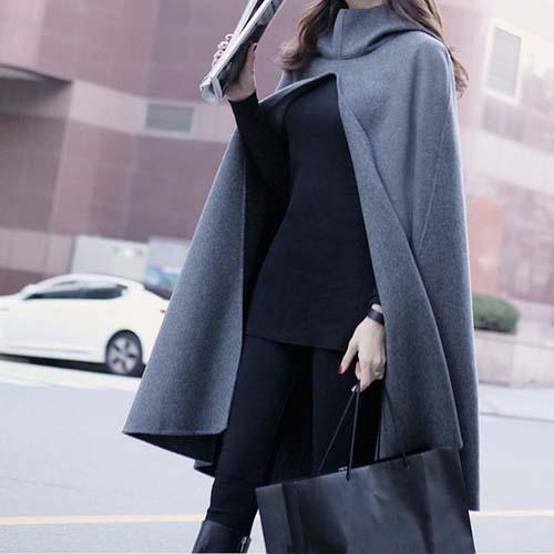 Корейская версия осенью 2015 собирает новые плавности код шерстяной ткани женщин носить долго без рукавов плащ платок пальто шерстяное