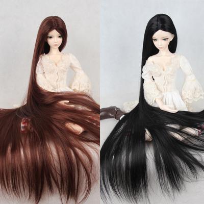 BJD/SD娃娃假发 1/3 1/4 1/6  多色长直发 加长70cm cosplay假发