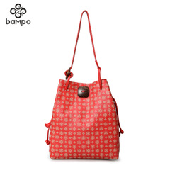 Banpo decorated original leisure authentic designer fashion leather red bag woman shoulder bag