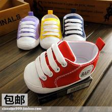 0 and 1 year old baby shoes toddler soft bottom baby shoes in the fall of men and women Neonatal single lace-up shoes low canvas shoes to help