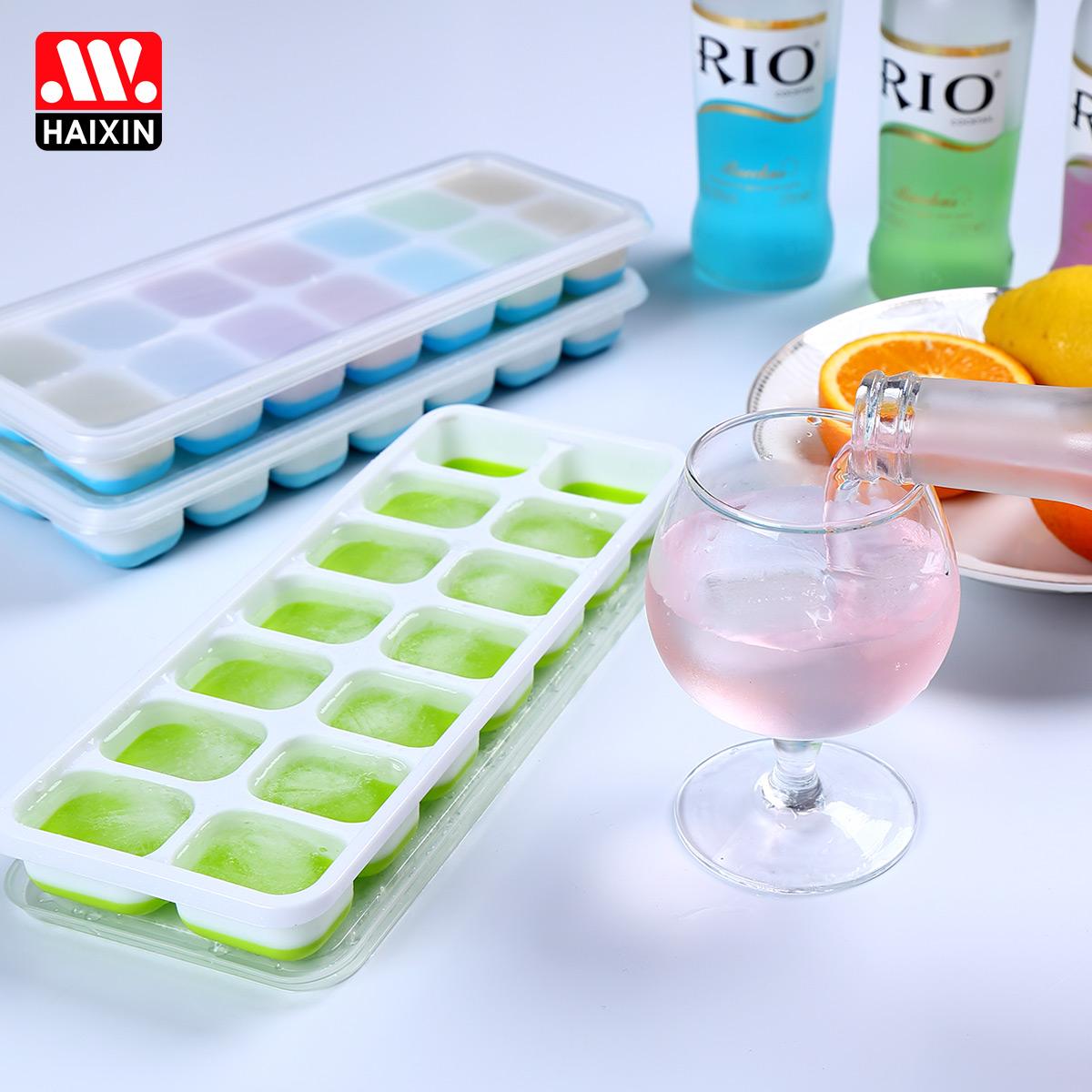 Haixin海興矽膠帶蓋冰格卡通冰塊模具 冰激淩雪糕模具 製冰盒