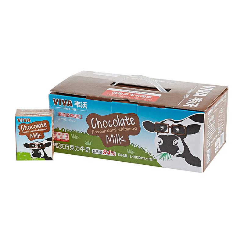 ~天貓超市~英國 牛奶韋沃巧克力牛奶200ml^~12 送禮
